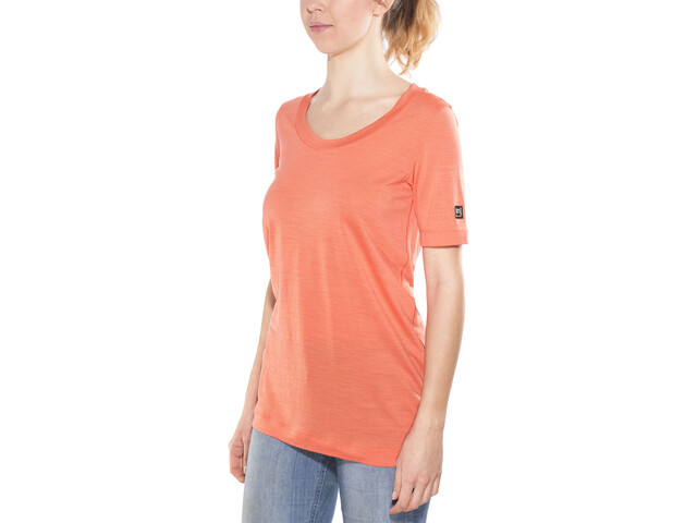 super.natural Oversize Tee - Camiseta manga corta Mujer - naranja